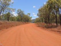Trilha vermelha em Queensland fotografia de stock