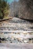 Trilhas abandonadas do trem Fotografia de Stock
