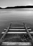 Trilhas abstratas na água Foto de Stock