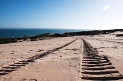 Trilhas da areia Fotos de Stock Royalty Free