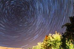Trilhas da estrela Fotografia de Stock
