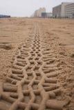 Trilhas da praia Imagens de Stock Royalty Free