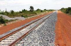 Trilhas de estrada de ferro Foto de Stock Royalty Free