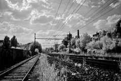 Trilhas de estrada de ferro Imagem de Stock Royalty Free