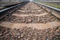Trilhas de estrada de ferro Imagens de Stock Royalty Free