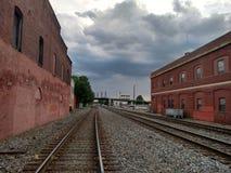 Trilhas de estrada de ferro Imagens de Stock