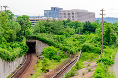 Trilhas de estrada de ferro em Alexandria va Fotografia de Stock Royalty Free