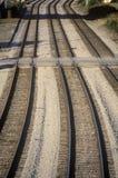Trilhas de estrada de ferro em Chicago, Illinois Fotografia de Stock