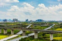 Trilhas de estrada de ferro em China imagens de stock royalty free