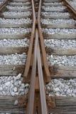 Trilhas de estrada de ferro em mudança fotografia de stock royalty free
