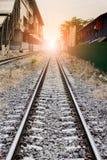 Trilhas de estrada de ferro em Tailândia Foto de Stock Royalty Free