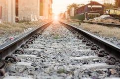 Trilhas de estrada de ferro em Tailândia Imagem de Stock