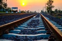 Trilhas de estrada de ferro Foto de Stock