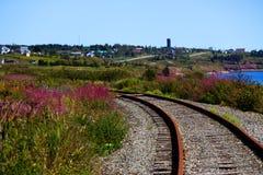 Trilhas de estrada de ferro no país Foto de Stock Royalty Free