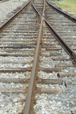 Trilhas de estrada de ferro oxidadas velhas Imagem de Stock