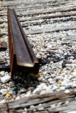 trilhas de estrada de ferro quebradas Fotos de Stock