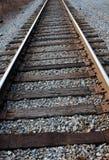 Trilhas de estrada de ferro resistidas velhas Imagens de Stock Royalty Free