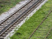 Trilhas de estrada de ferro velhas Imagem de Stock Royalty Free