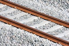 Trilhas de uma estrada de ferro nova imagem de stock