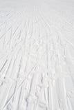 Trilhas do esqui fotografia de stock royalty free
