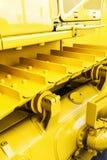 Trilhas do metal no trator Foto de Stock