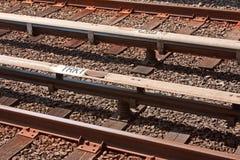 Trilhas do metro Imagem de Stock Royalty Free