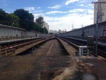 Trilhas do metro Fotografia de Stock