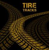 Trilhas do pneu Fotografia de Stock