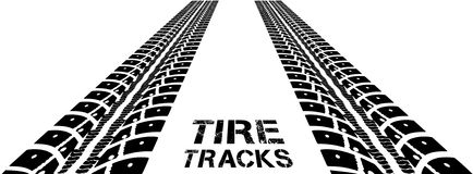 Trilhas do pneu Imagem de Stock Royalty Free