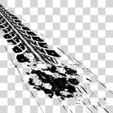 Trilhas do pneu Imagens de Stock