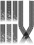 Trilhas do pneu de Grunge Imagens de Stock Royalty Free