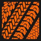 Trilhas do pneu - grupo do vetor Foto de Stock