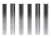 Trilhas do pneumático ilustração do vetor