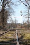 Trilhas do trem à nenhumaa parte na queda Fotos de Stock Royalty Free