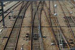Trilhas do trem Foto de Stock Royalty Free