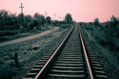 Trilhas do trem Fotos de Stock