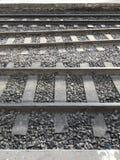 trilhas do trem da quadriculação Fotos de Stock