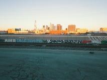 Trilhas do trem de Los Angeles Imagem de Stock Royalty Free