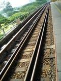 Trilhas do trem do MRT Fotografia de Stock