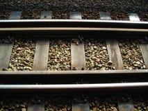 Trilhas do trem do MRT do close up Foto de Stock Royalty Free