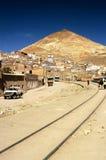 Trilhas do trem - Potosi, Bolívia Fotografia de Stock Royalty Free