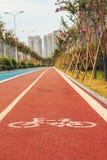 Trilhas dos corredores e dos ciclistas Foto de Stock