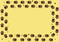 Trilhas enlameadas do cão ilustração do vetor