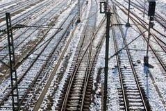 Trilhas Railway Foto de Stock Royalty Free