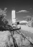 Trilhas Railway a armazenar Foto de Stock Royalty Free