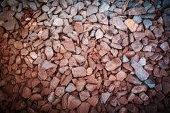 trilhas Railway da rocha vermelha, filtro de pedra do vintage do fundo Fotografia de Stock
