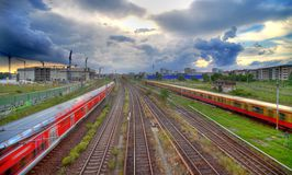 Trilhas Railway de Berlim imagens de stock royalty free