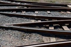 Trilhas railway de cruzamento Imagens de Stock