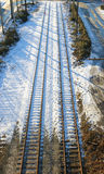 Trilhas Railway do duelo foto de stock royalty free