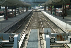 Trilhas railway vazias Foto de Stock